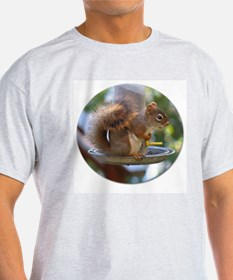 Red Squirrel I Ash Grey T-Shirt