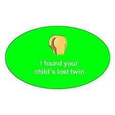 Lost twin oval sticker