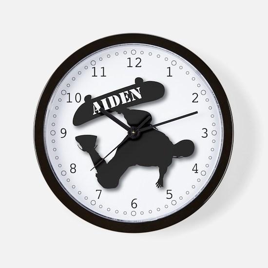 Aiden - Skateboard Wall Clock