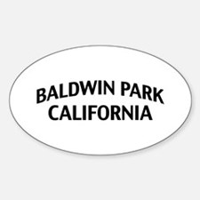 Baldwin Park California Sticker (Oval)