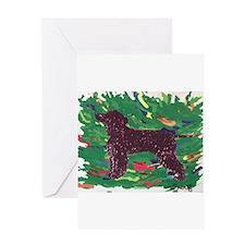 Irish Water Spaniel Greeting Card