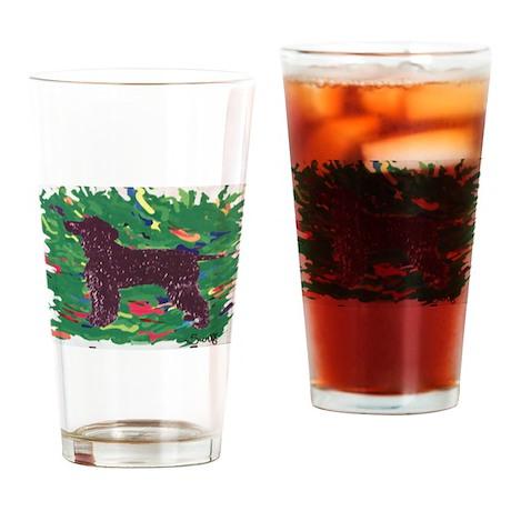 Irish Water Spaniel Drinking Glass