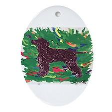 Irish Water Spaniel Ornament (Oval)