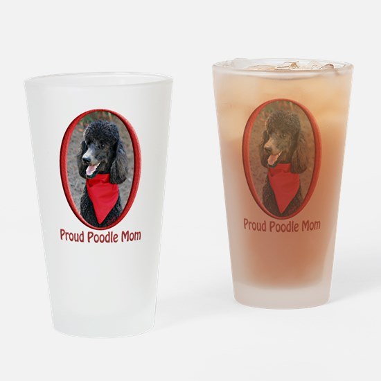 Proud Poodle Mom Drinking Glass