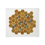 Honey Bees Throw Blanket
