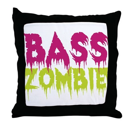 Bass Zombie Throw Pillow