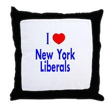 I Love New York Liberals Throw Pillow
