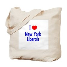 I Love New York Liberals Tote Bag