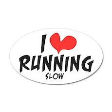 Funny I heart running slow 38.5 x 24.5 Wall Peel