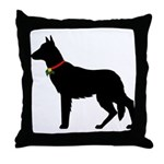 Christmas or Holiday German Shepherd Silhouette Th