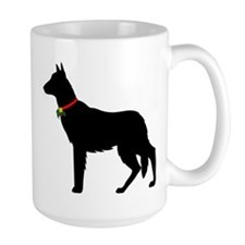 Christmas or Holiday German Shepherd Silhouette La