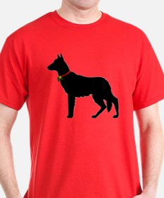 Christmas or Holiday German Shepherd Silhouette Da