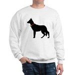 Christmas or Holiday German Shepherd Silhouette Sw