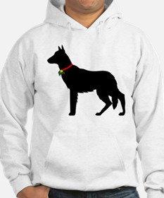 Christmas or Holiday German Shepherd Silhouette Ho