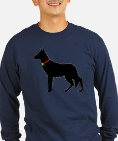Christmas or Holiday German Shepherd Silhouette Lo