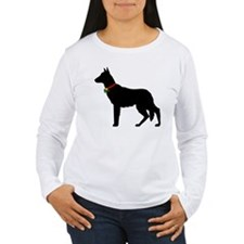 Christmas or Holiday German Shepherd Silhouette Wo