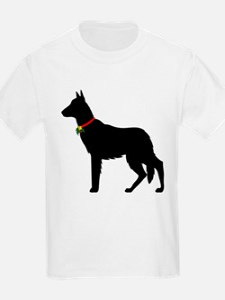 Christmas or Holiday German Shepherd Silhouette Ki
