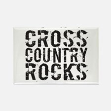 Cross Country Rocks Rectangle Magnet