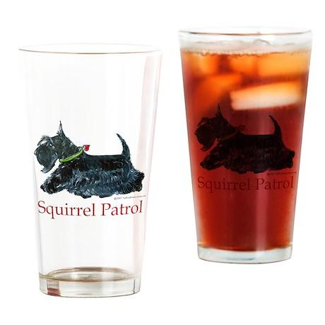 Scottie Squirrel Patrol Drinking Glass