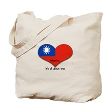 Taiwan Heart Tote Bag