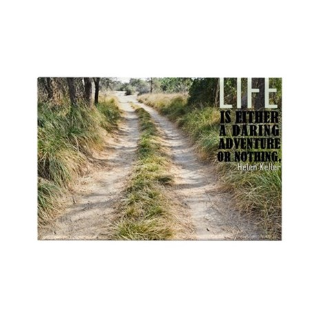 Life Adventure Quote on 100 Rectangle Magnets