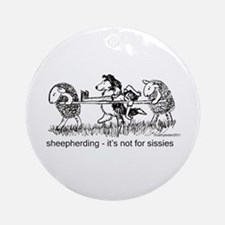 Sheepherding Sissies/Sheltie Ornament (Round)