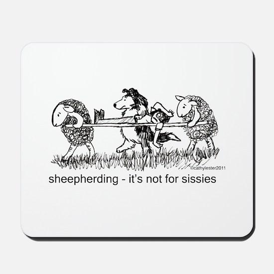 Sheepherding Sissies/Sheltie Mousepad
