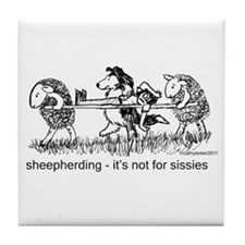 Sheepherding Sissies/Sheltie Tile Coaster