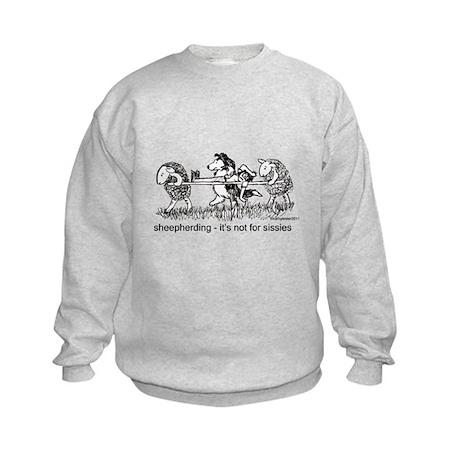 Sheepherding Sissies/Sheltie Kids Sweatshirt