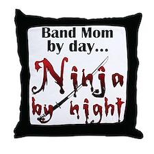 Band Mom Ninja Throw Pillow