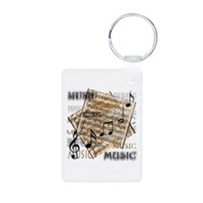 Vintage Music Aluminum Photo Keychain