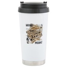 Vintage Music Travel Mug