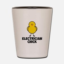 Electrician Chick Shot Glass