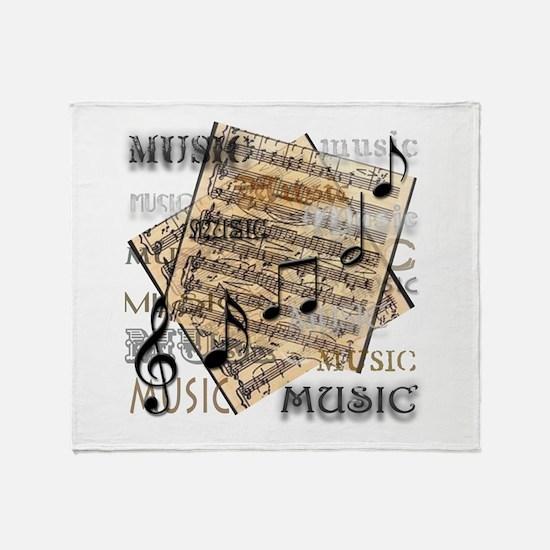 Vintage Music Throw Blanket