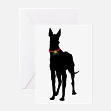 Christmas or Holiday Great Dane Silhouette Greetin