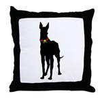 Christmas or Holiday Great Dane Silhouette Throw P