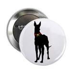 Christmas or Holiday Great Dane Silhouette 2.25
