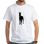 Christmas or Holiday Great Dane Silhouette White T