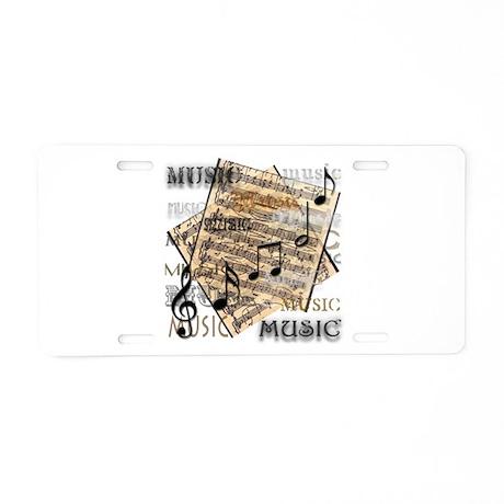 Vintage Music Aluminum License Plate