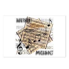 Vintage Music Postcards (Package of 8)