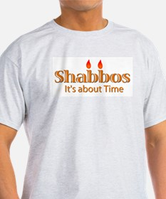 Shabbos It's About Time Ash Grey T-Shirt