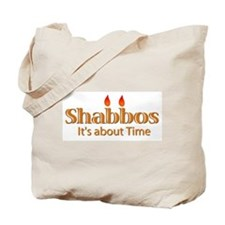 Shabbos It's About Time Tote Bag