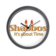 Shabbos It's About Time Wall Clock