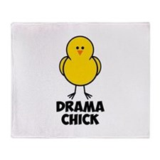 Drama Chick Throw Blanket