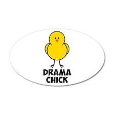 Drama Chick 38.5 x 24.5 Oval Wall Peel