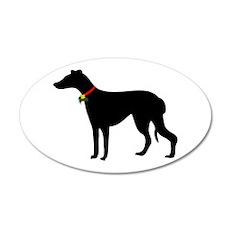 Christmas or Holiday Greyhound Silhouette 22x14 Ov