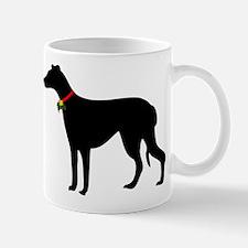 Christmas or Holiday Greyhound Silhouette Mug