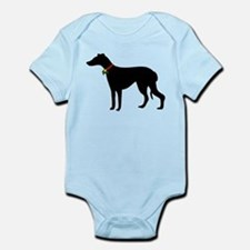 Christmas or Holiday Greyhound Silhouette Infant B