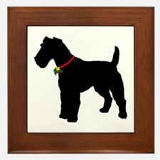 Christmas or Holiday Fox Terrier Silhouette Framed