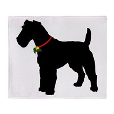 Christmas or Holiday Fox Terrier Silhouette Stadi